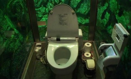 Záchod obklopený akváriom? V Japonsku žiaden problém