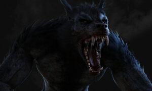 Človek premenený na vlka avytie na mesiac